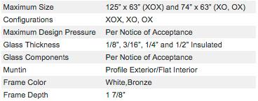 Specification-8500-series-impact-windows-center-miami-lawson